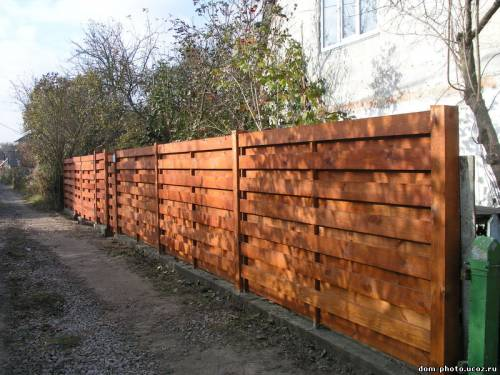 забор из досок фото